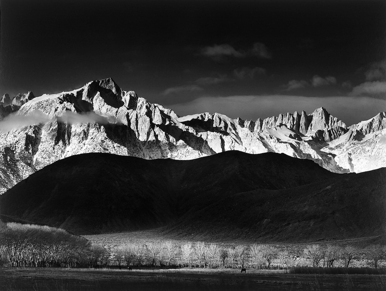 Ansel adams photography winter.
