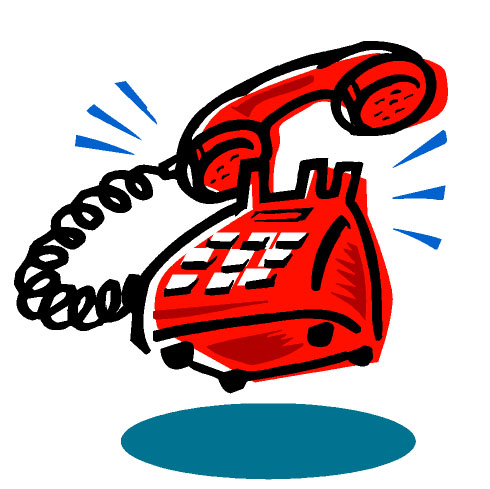 Person Answering Telephone Clipart.