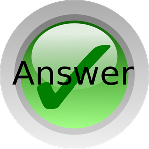 Answer PNG, SVG Clip art for Web.