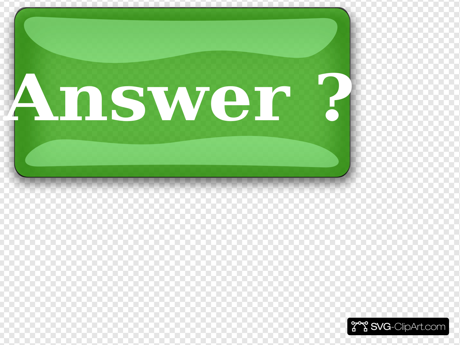 Answer Button Clip art, Icon and SVG.