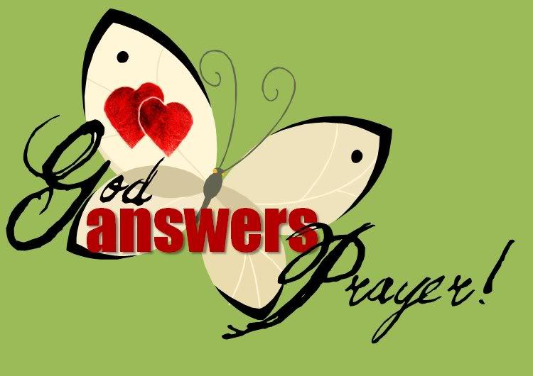 God Answers Prayers Clip Art N6 free image.