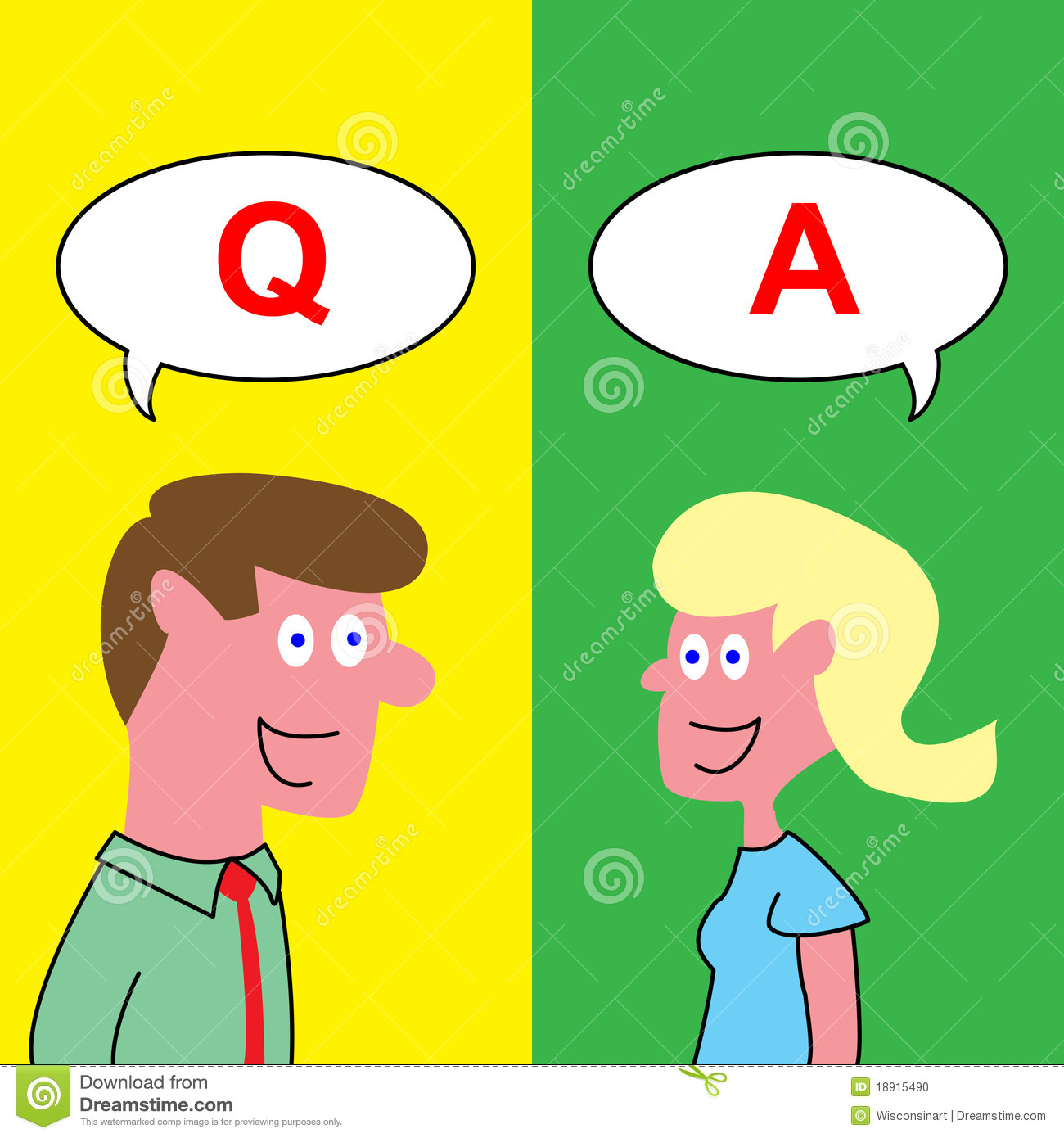 Answering Questions Clipart.