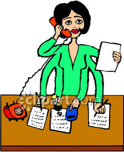 Answering Phone Clipart.
