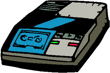 Answering Machine Clipart.