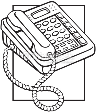 Telephone Answering Machine Phone First Its For You Vector Art.
