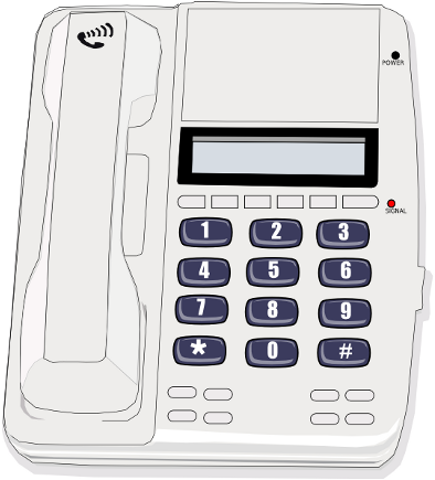 Wall And Desk Phones Clip Art Download.