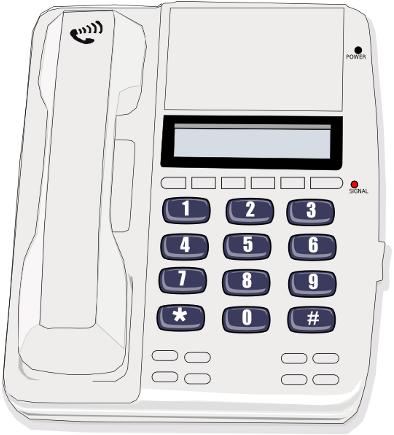 Wall And Desk Phones Clip Art Download.