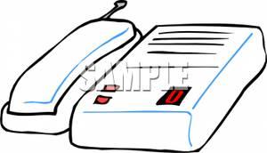 White Phone and Answering Machine.