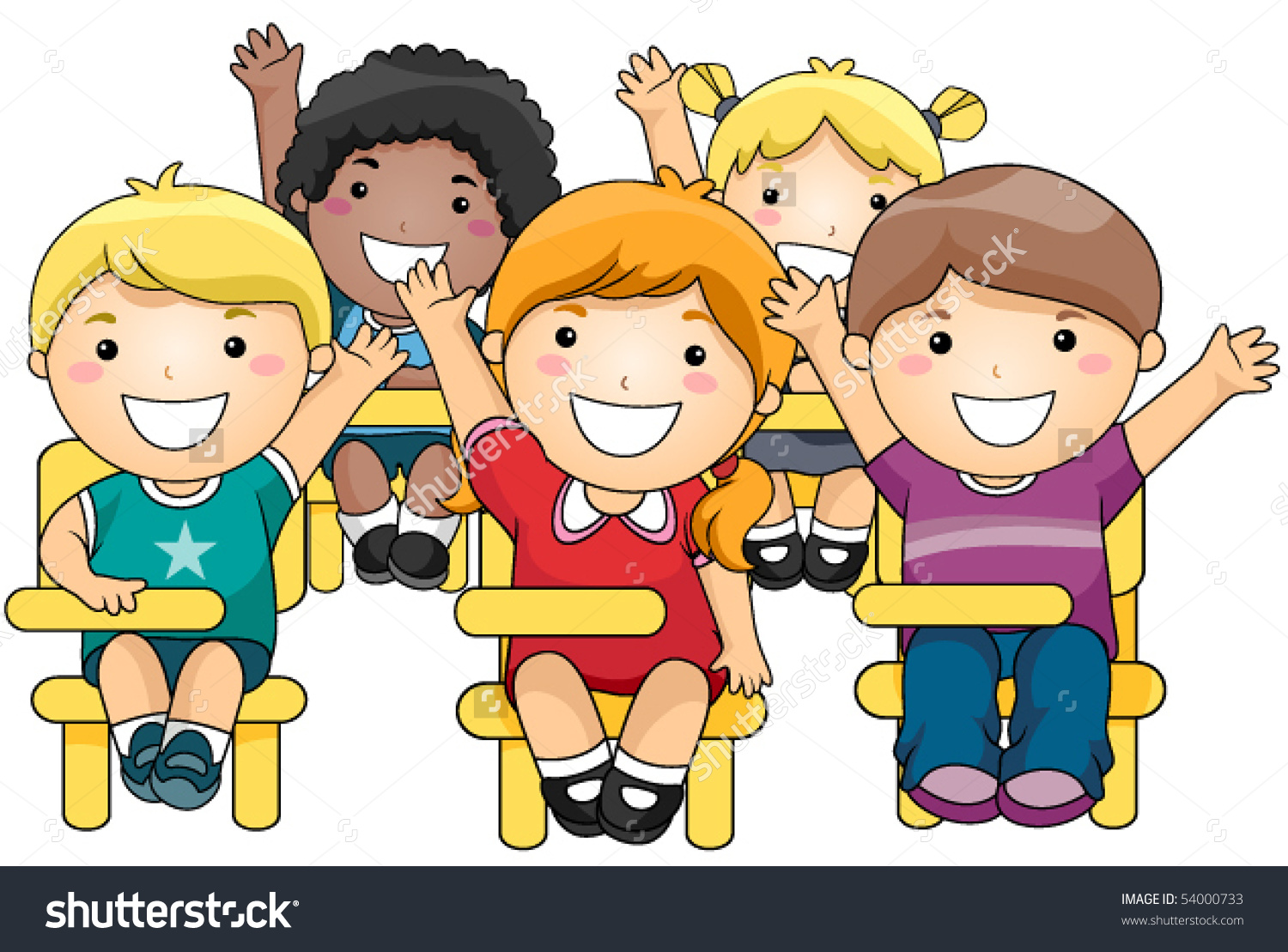 Student Raise Your Hand Clipart.