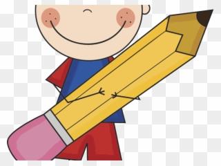 Pencil Clipart Boy.