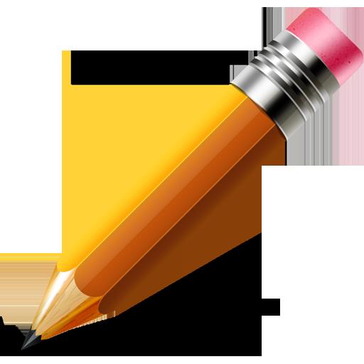 Pencil icon (Vector PSD.