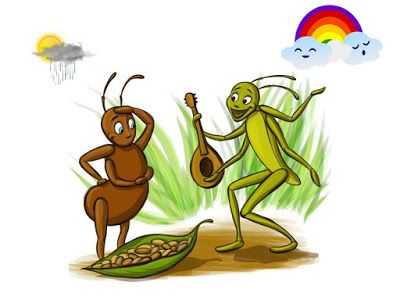 The Ant and the Grasshopper.