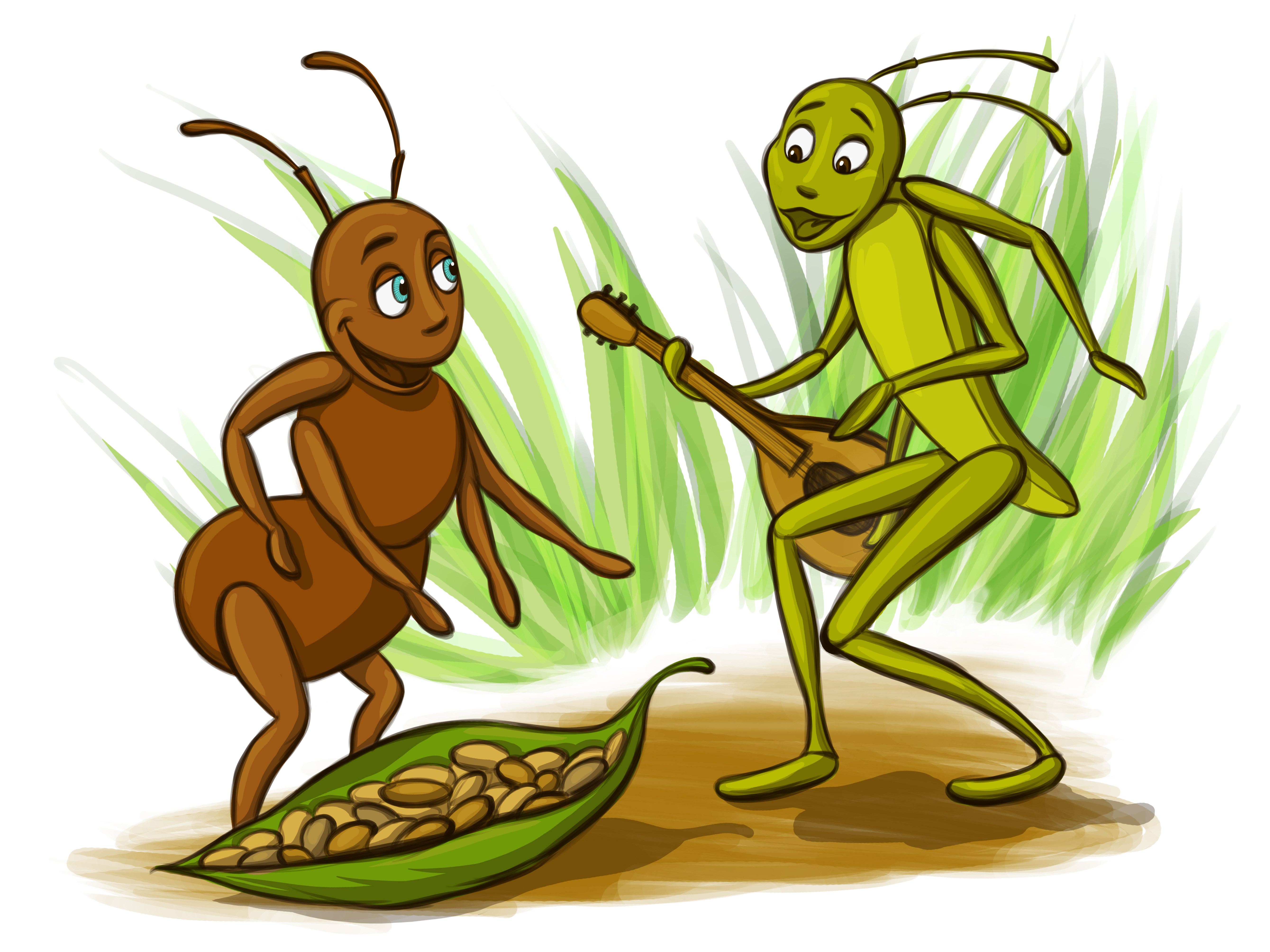 Ant and Grasshopper Clip Art   Clipart Free Download.