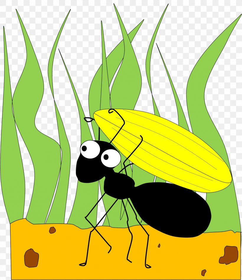 The Ant And The Grasshopper Clip Art, PNG, 1398x1623px, Ant.