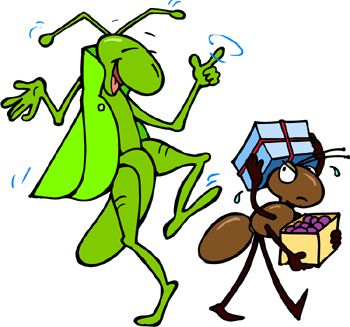 Ant and the Grasshopper Short story.