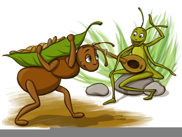 Ant And Grasshopper Clipart.