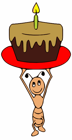 Ant Carrying A Cake Clip Art at Clker.com.