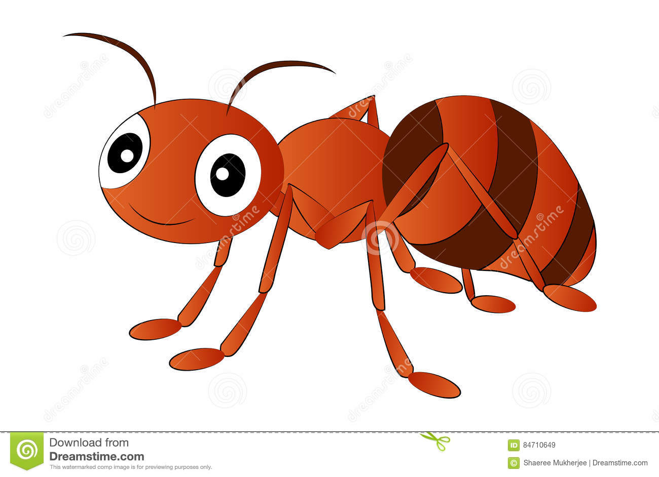 Cartoon Red Ant Clip Art stock vector. Illustration of tropical.