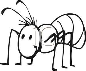 Ants clipart black and white » Clipart Station.