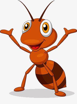 Hands Cheering Cartoon Ant, Cartoon Clipart, Cartoon, Ant.