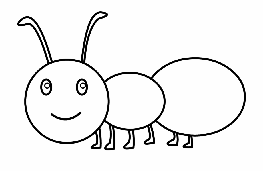 Spider Clipart Ant Cute Ant Coloring.