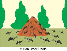 Ant hill Illustrations and Stock Art. 89 Ant hill illustration and.