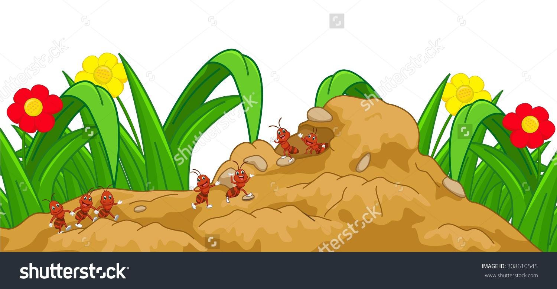 Ants nest clipart - Cl...