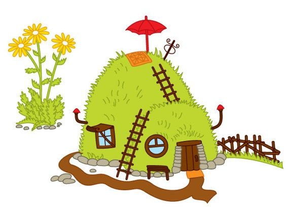 ITEM: Forest House Clipart.