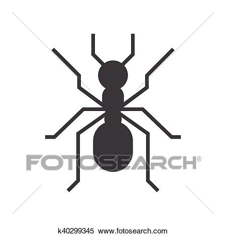 Forest Ant Icon Clipart.