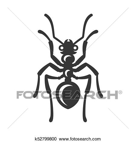 Ant Icon on White Background. Vector Clipart.
