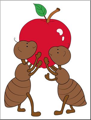 Clip Art: Cartoon Ants Color I abcteach.com.