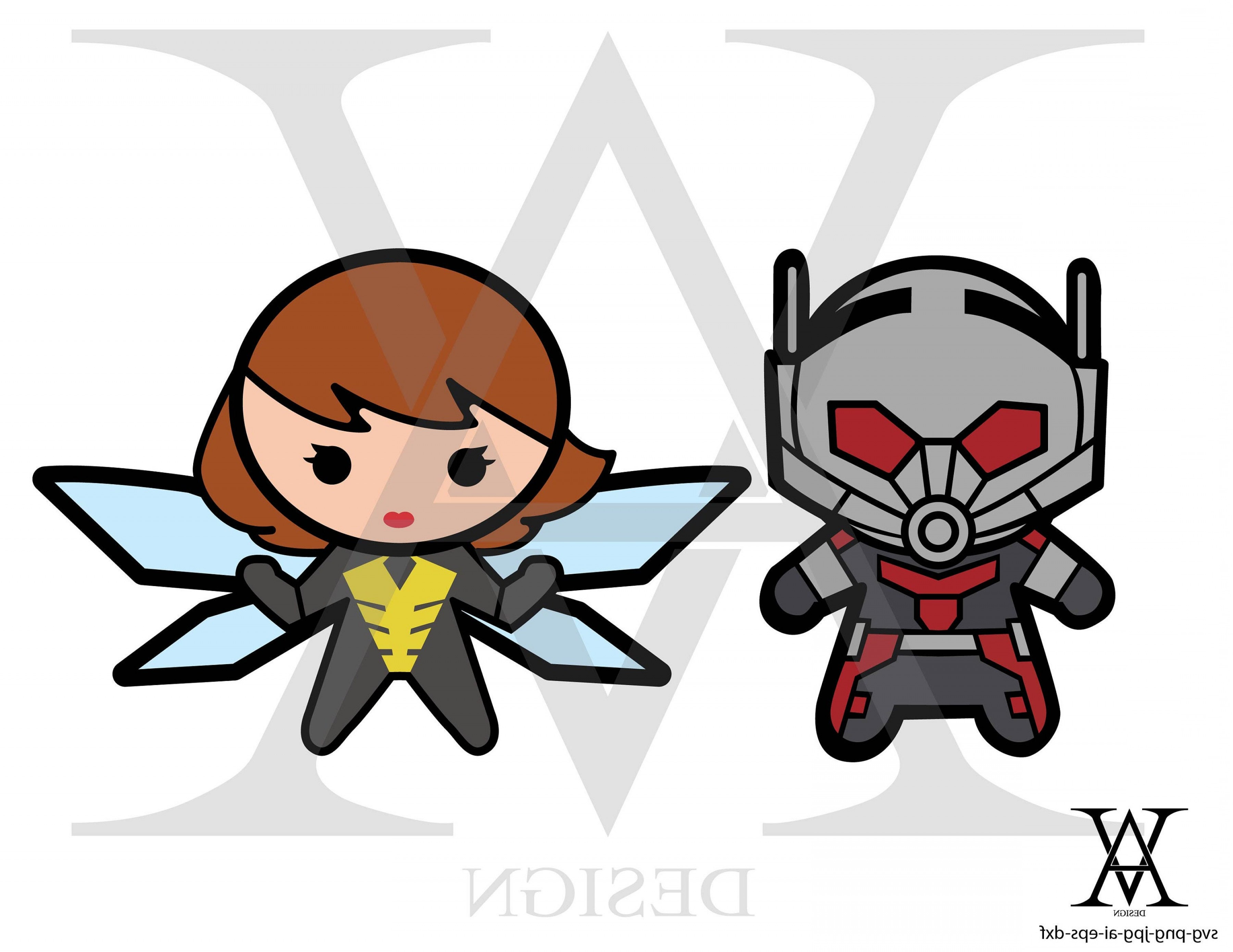 Ant Man And The Wasp Clipart Vector.