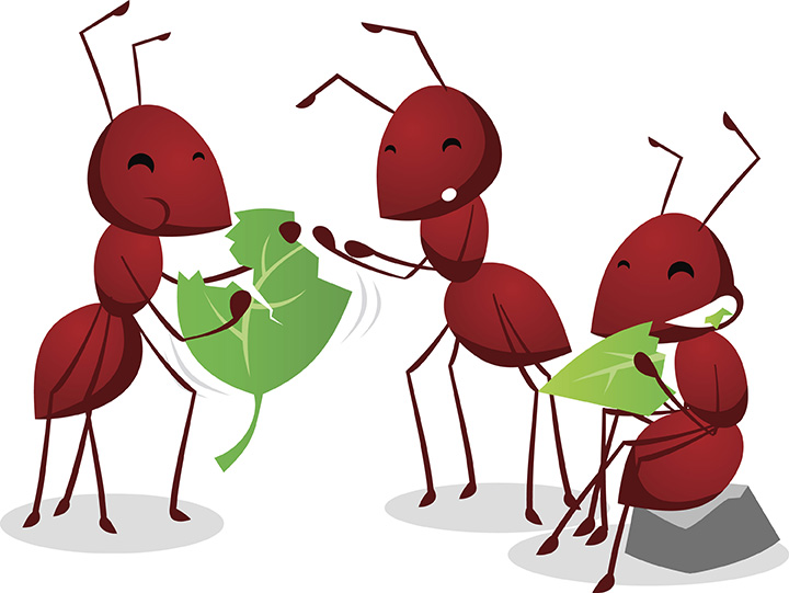 Ants Go Marching Clipart.
