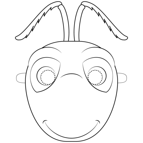 Ant Mask coloring page.