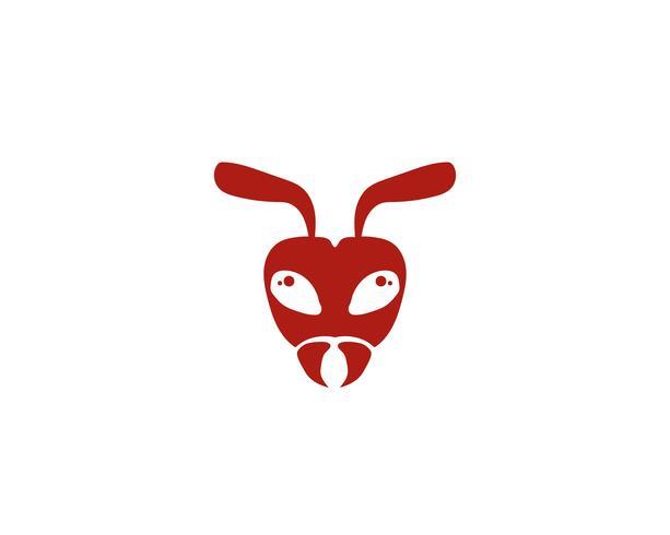 Ant head Logo template vector illustration.