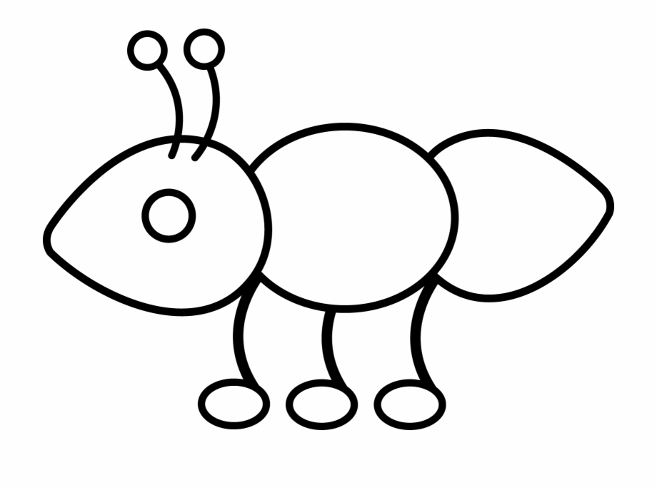 Simple Butterfly Outline Clipart Outline Of A Ant.