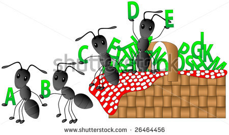 Ants having a picnic with the.