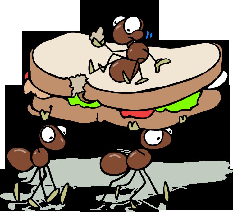 cartoon ants picnic.