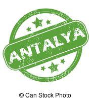 EPS Vector of Antalya stamp.