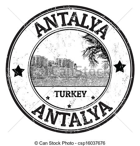 Vectors Illustration of Antalya stamp.