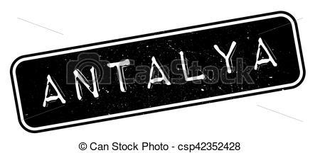Vector Illustration of Antalya rubber stamp. Grunge design with.