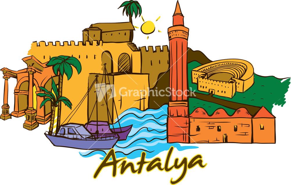 Antalya Vector Doodle.