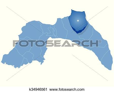 Clipart of Map of Antalya.