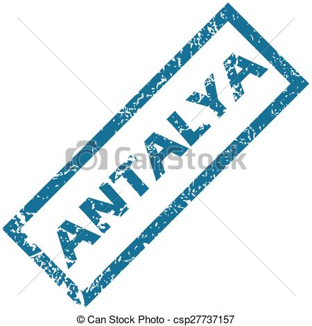 Clipart Vector of Antalya rubber stamp.