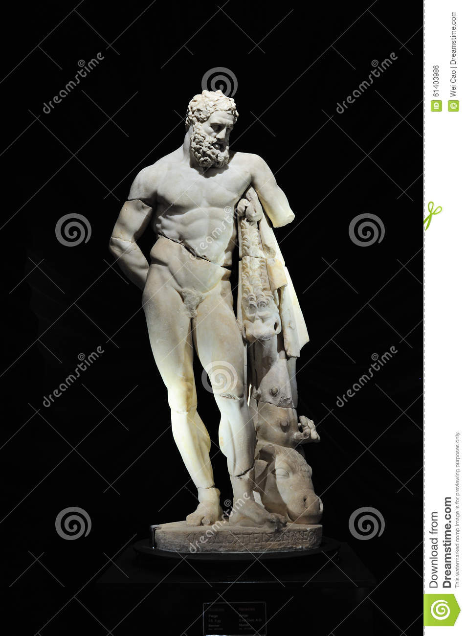 Statue Of Hercules Stock Photo.