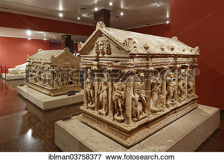 Picture of Archaeological Museum, sarcophagus of Hercules from.