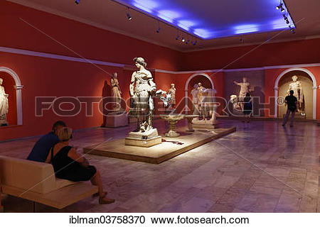 "Stock Photography of ""Archaeological Museum, statues from Perge."