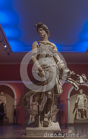 The Statue Of A Dancing Woman At Antalya Archeological Museum.