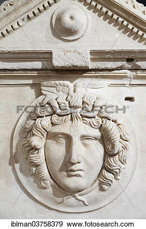 "Stock Photograph of ""Archaeological Museum, marble frieze on a."
