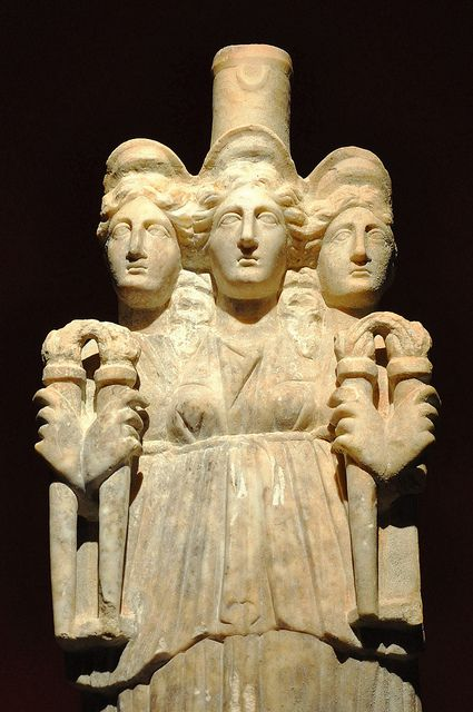 Hekate The statue of Hecate (3rd century A.D.) on display in the.